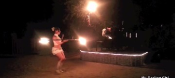 Concert with Fire Dancers at Fire Garden