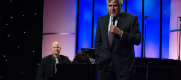 Playing piano for Cedars Sinai Board of Governors Gala with Jay Leno