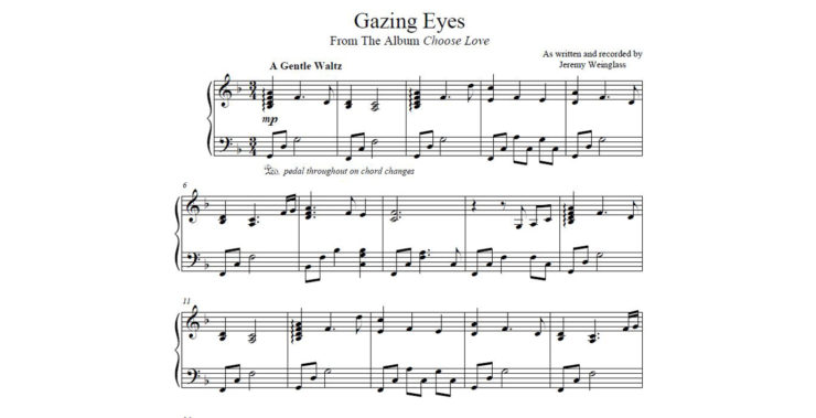 Gazing Eyes Sheet Music
