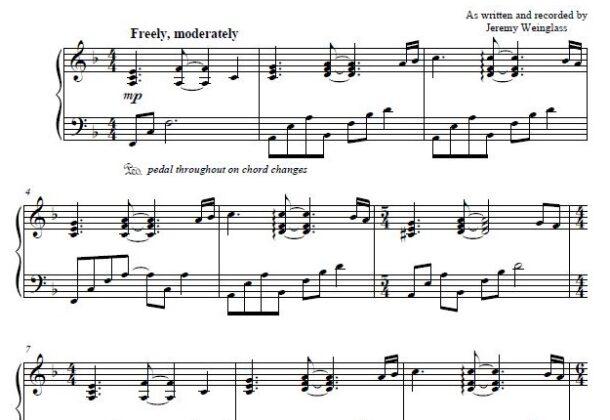 Feelings sheet music preview