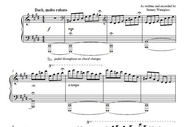 Prelude to Love sheet music preview